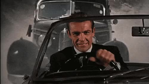 Watch this 007 GIF on Gfycat. Discover more 007, driving, james bond GIFs on Gfycat
