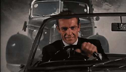 007, driving, james bond, james, bond, sean, connery, im GIFs