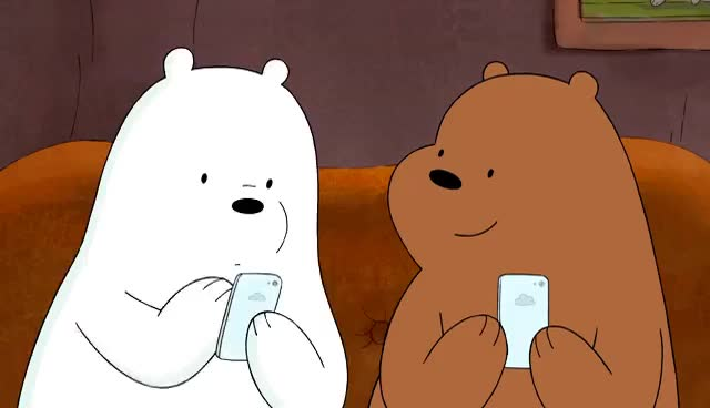 Watch New Phones | We Bare Bears | Cartoon Network GIF on Gfycat. Discover more related GIFs on Gfycat