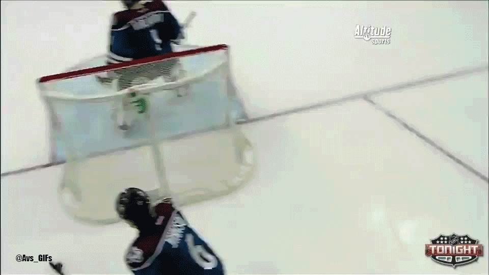 coloradoavalanche, Erik Johnson goes coast-to-coast and Nathan MacKinnon beats Ryan Miller five-hole GIFs