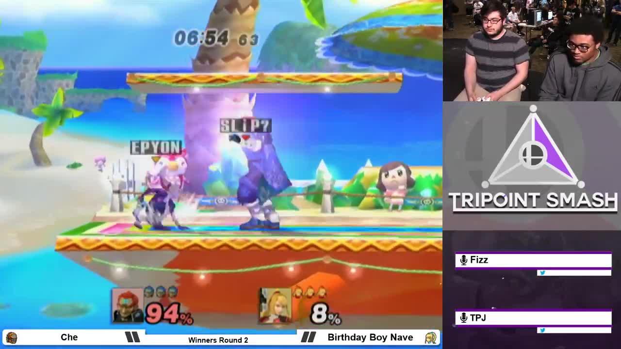 gaming, shinecorp, smashgifs, ssmb, Che (Ganondorf) vs SC   Nave (ZSS) - Tripoint Smash 64 PM Bracket GIFs