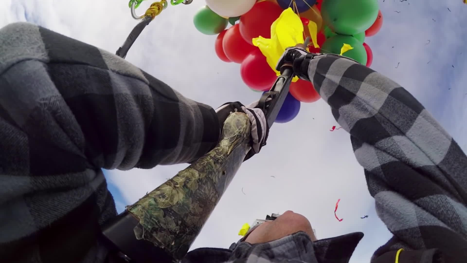 gopro, hero 2, hero 3, GoPro: Shotgun Balloon Drop GIFs