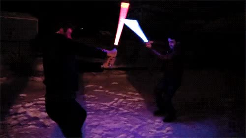 Watch Corey Vidal and Tim Fierce Lightsaber Fight GIF by Corey Vidal (@coreyvidal) on Gfycat. Discover more ApprenticeEh, Corey Vidal, CoreyVidal, fight, lightsaber, snow GIFs on Gfycat