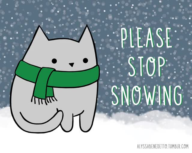 Watch and share Cat, Meow, Purr, Snow, Brr, Animation, Illustration, Winter GIFs on Gfycat