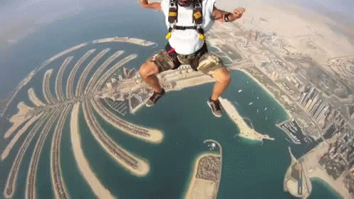 Skydiving Over Dubai GIFs