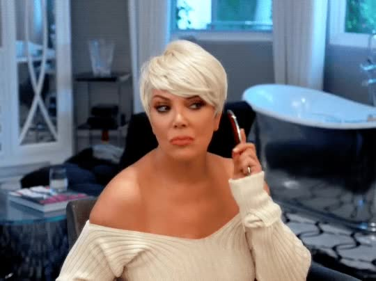 Watch this kris jenner GIF by Reactions (@sannahparker) on Gfycat. Discover more blonde, blonde wig, keeping up with the kardashians, kris jenner, kuwtk, primping, vain, vanity GIFs on Gfycat