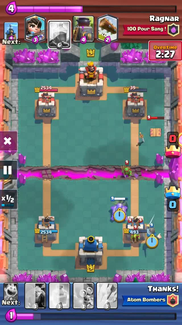 Watch and share Clash Royale: Heal Spell Draft Challenge Close Match GIFs on Gfycat
