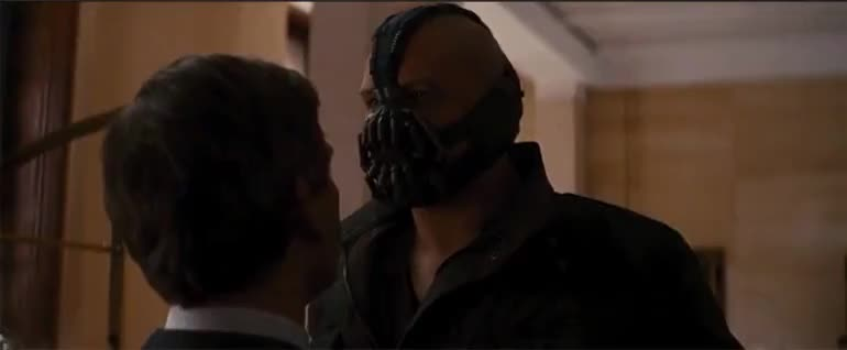 bane, ben mendelsohn, dark knight, leave, leave us, the dark knight rises, tom hardy, Leave Us Bane Dark Knight GIFs