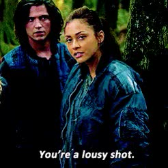 Watch and share Bellamy X Raven GIFs and Lindsey Morgan GIFs on Gfycat