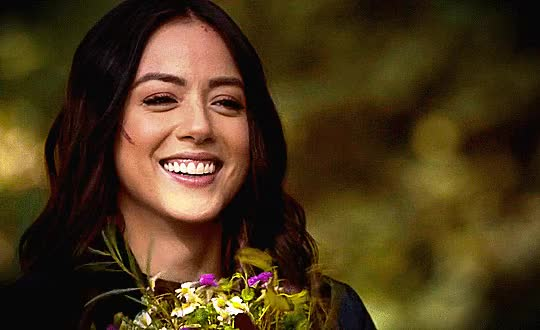 Watch and share Chloe Bennet GIFs and Flowers GIFs on Gfycat