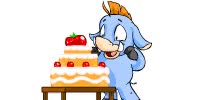 Watch and share Blue Moehog Eating Cake GIFs on Gfycat