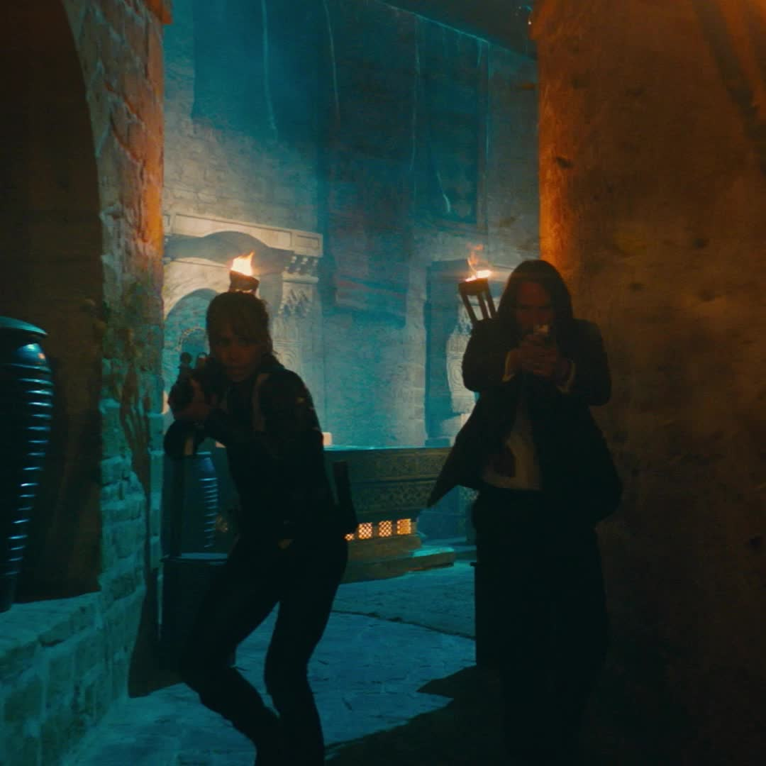 fight, guns, halle berry, john wick, john wick 3, john wick chapter 3, john wick chapter 3 parabellum, keanu reeves, shooting, John Wick Keanu Reeves Halle Berry Shooting GIFs