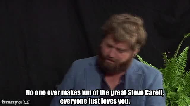 FoD, Funny or die, FunnyOrDie, Steve Carell, between two ferns steve, between two ferns with Zach Galifianakis: steve carell, The great Steve Carell GIFs