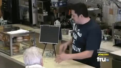 Watch I hold my own like I'm a first born son. GIF on Gfycat. Discover more Charity, Coffin, Comedy, Funeral, Funny, Impractical Jokers, Old lady, Perfect setup, Sal Vulcano, Surprise funeral, TruTV GIFs on Gfycat