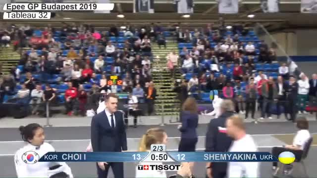 Watch CHOI I 14 GIF by Scott Dubinsky (@fencingdatabase) on Gfycat. Discover more gender:, leftname: CHOI I, leftscore: 14, rightname: fSHEMYAKINA, rightscore: 13, time: 00015606, touch: double, tournament: budapest2019, weapon: epee GIFs on Gfycat