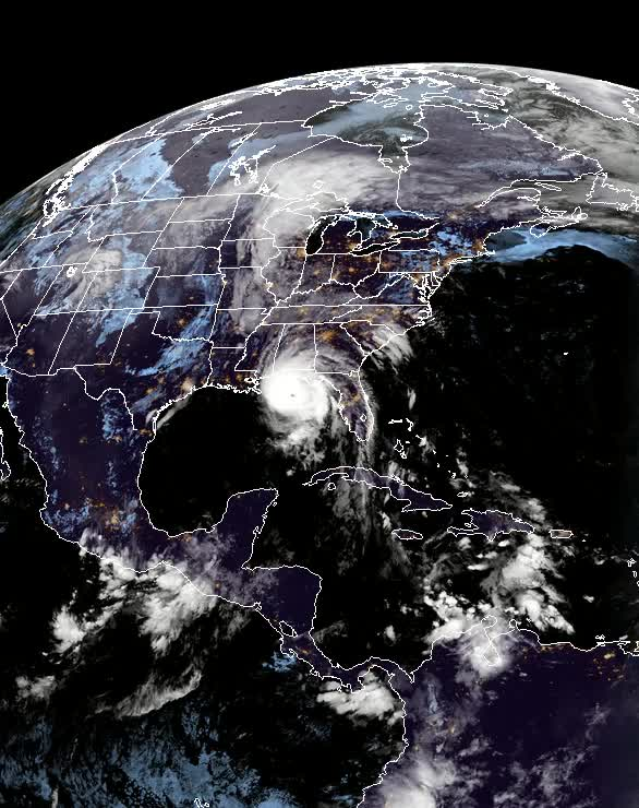 """Watch and share Hurricane """"Michael"""" On October 10, 2018 (pre-landfall) GOES-East GIFs by The Watchers on Gfycat"""