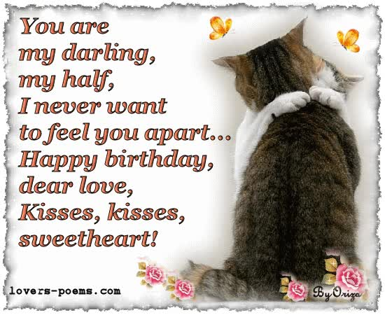 Watch and share Happy Birthday Dear Love animated stickers on Gfycat