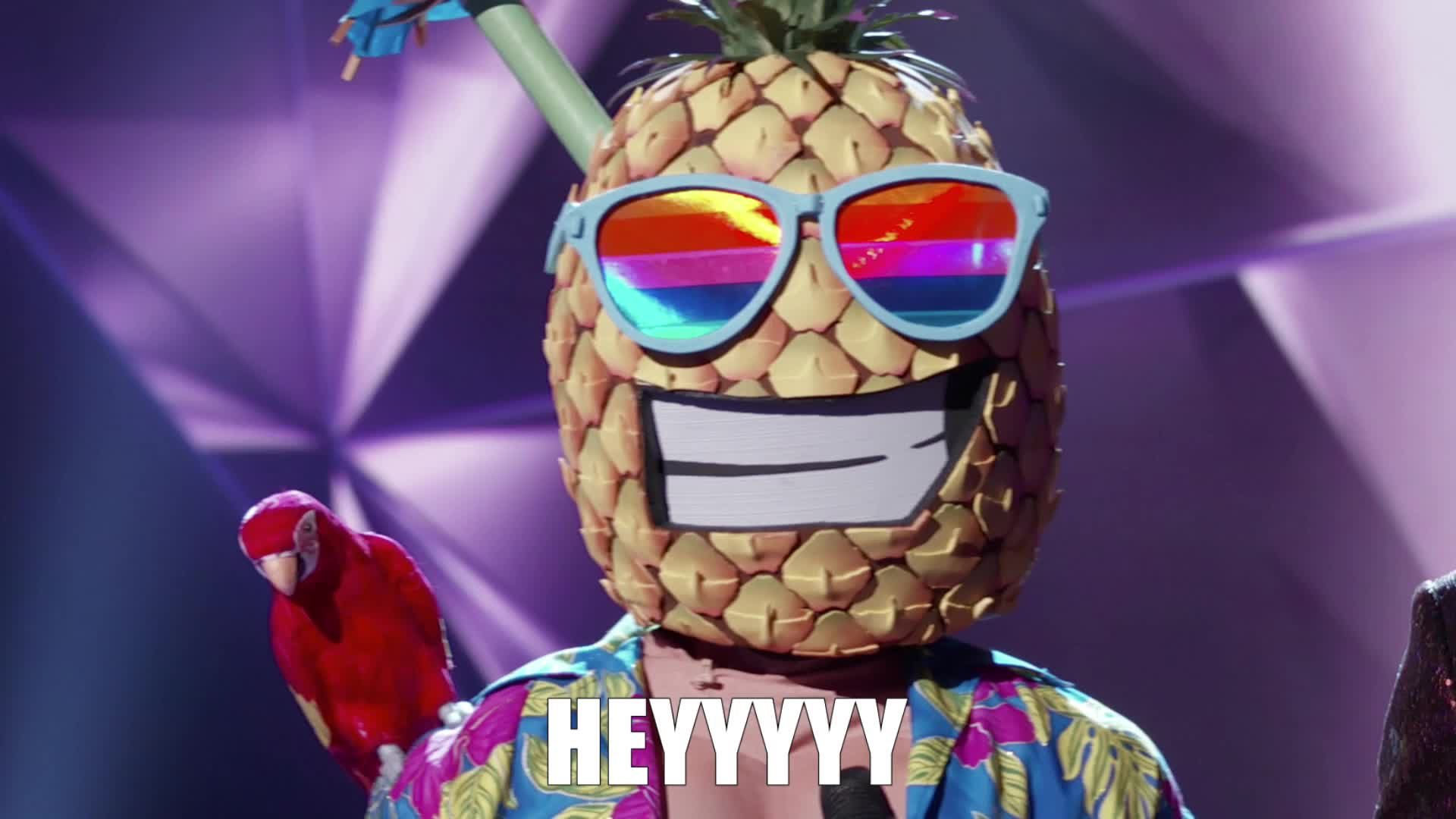 hello, hey, hey there, heyyy, hi, masked singer, the masked singer, the masked singer on fox, Pineapple Heyyy GIFs