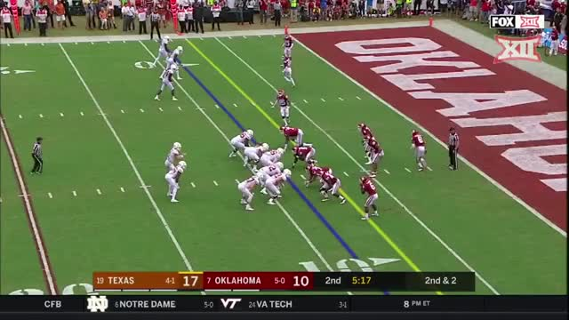 Watch Ehlinger Touchdown GIF by Pistols Firing (@pistolsfiring) on Gfycat. Discover more Big 12 Conference, Sports, red river showdown, sp:dt=2018-10-06T16:00:00+00:00, sp:li=cfb, sp:st=football, sp:ti:away=Tex, sp:ti:home=Okla, sp:ty=high, sp:vl=en-US GIFs on Gfycat