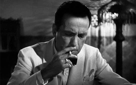 Watch Humphrey Bogart as Rick Blaine in Casablanca (1942) by GIF on Gfycat. Discover more related GIFs on Gfycat