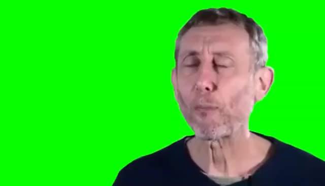 Watch and share Michael Rosen - *click* NICE (Greenscreen) GIFs on Gfycat