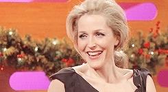 cutieee^^, gaedit, gillian anderson, gillian*-*, hannibal cast, her smile is everything, maaaah, my edit, txf cast, I want magic and Gillian Anderson. GIFs