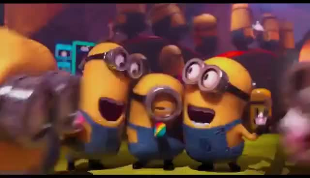 Watch and share Minions Party - Despicable Me 2 GIFs on Gfycat