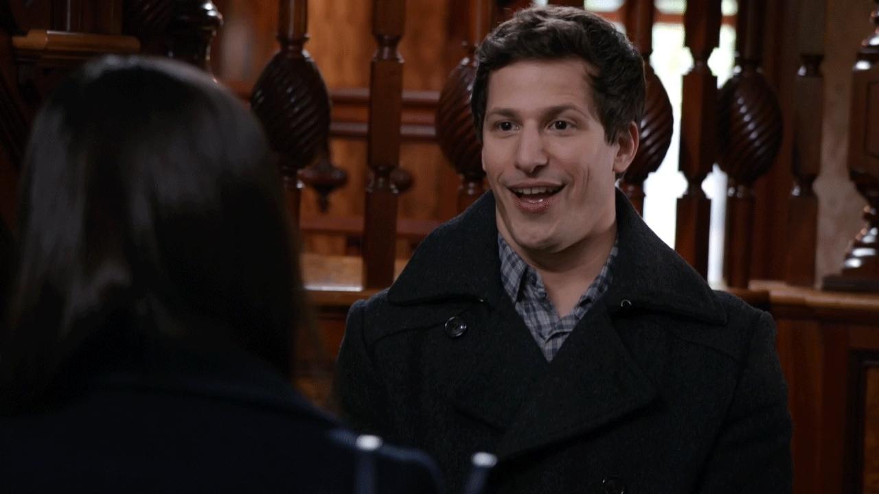 andy samberg, brooklynninenine, melissa fumero, no, no way, nope, oh no, popular, oh nooo GIFs