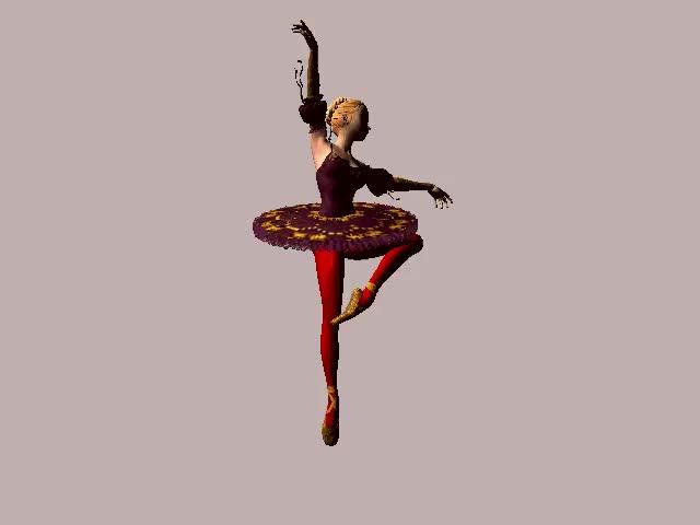 гифка балерина вращается том, как полосок