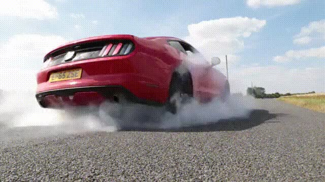 Watch and share Ear Destroying Ford Mustang Burnout GIFs on Gfycat