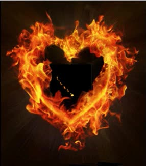 Watch and share Открытка Огненное Сердце Моё GIFs on Gfycat