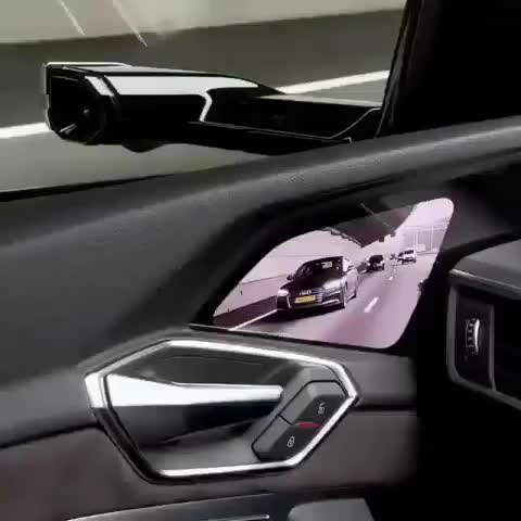 Audi virtual mirrors GIFs