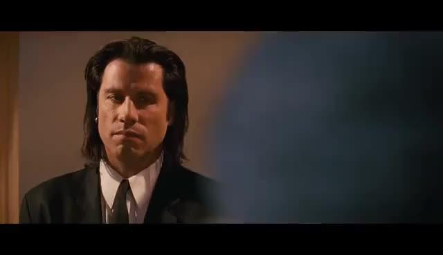 Watch Pulp Fiction | 'Big Kahuna Burger' (HD) - Samuel L. Jackson, John Travolta | MIRAMAX GIF on Gfycat. Discover more related GIFs on Gfycat