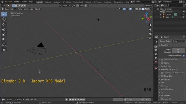 Blender 2.8 Demo: Import XPS Model