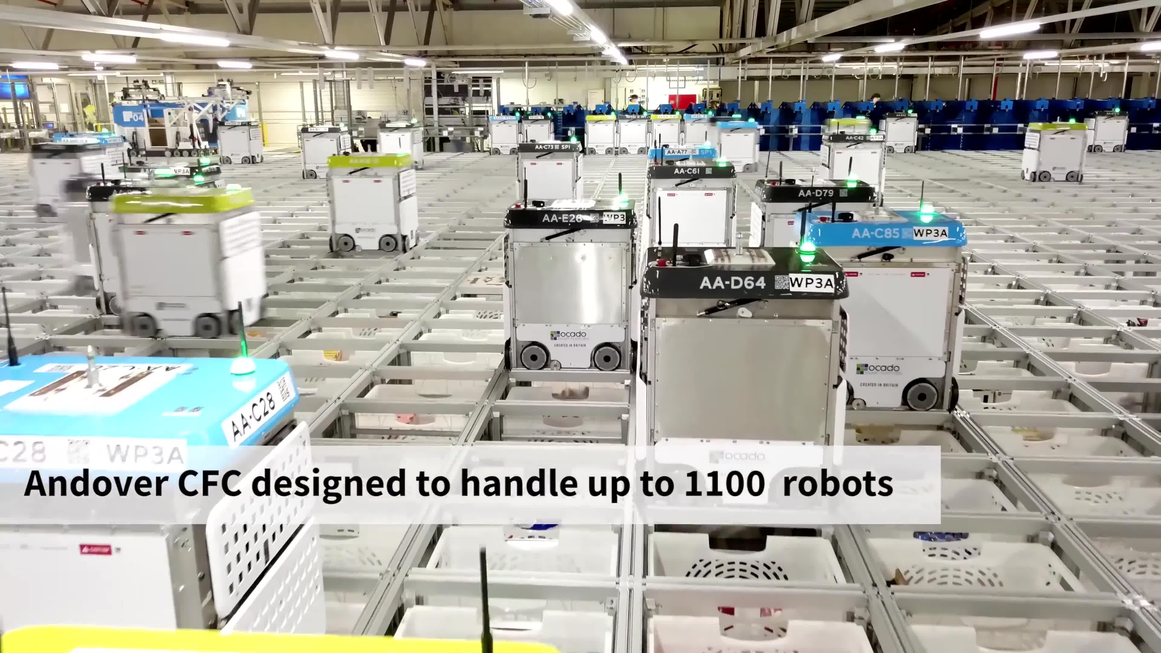 AI, Ocado, automation, engineering, robotics, robots, technology, Inside Ocado's Andover CFC3 automated warehouse GIFs