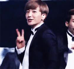 Watch and share [INSIGHT] 120819 Leeteuk Make V Sign Again On SPY Performance @SBSInkigayo GIFs on Gfycat
