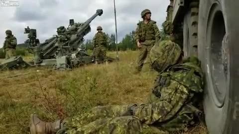 """Watch and share Becandanya Tentara Ngeri Ya! Tentara Kanada Yang Tengah Tertidur Di Tengah Sesi Latihan Ini Dijahili Rekan-rekannya Dengan """"alarm Termahal D GIFs on Gfycat"""
