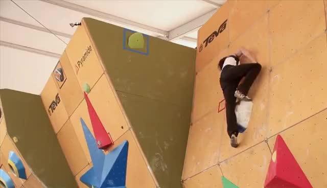 Daniel Woods Wins Bouldering World Cup GIFs