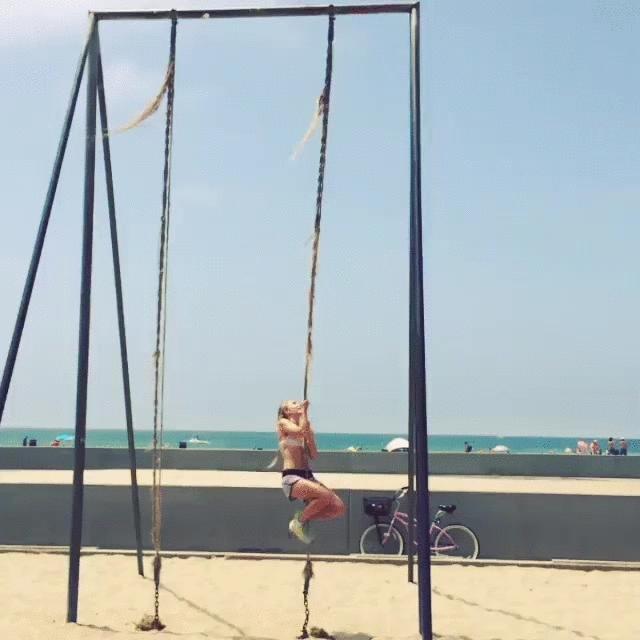 annasophiarobb, Rope climb [gif] (reddit) GIFs