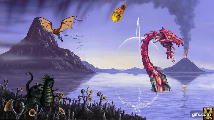 aliensamongus, monsterhunter, sciencefiction, ALIEN WORLD! GIFs