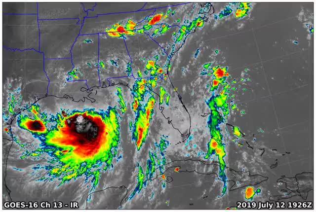 Watch and share GOES16 Ch13 2019 07 12 1926 GIFs on Gfycat