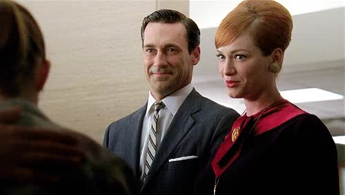 Watch and share Christina Hendricks GIFs and Jon Hamm GIFs on Gfycat