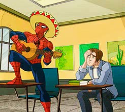 Watch and share Spiderman Sombrero Playing Gui WI GIFs on Gfycat