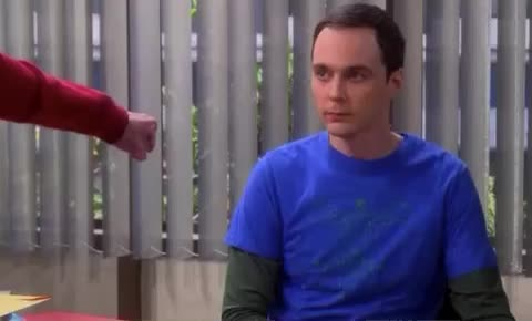 awkward, bang, bing, bump, confused, cool, cooper, fist, funny, haha, handshake, lol, nerd, not, sheldon, thanks, theory, weirdo, whatever, wtf, Fist bumping with Sheldon GIFs