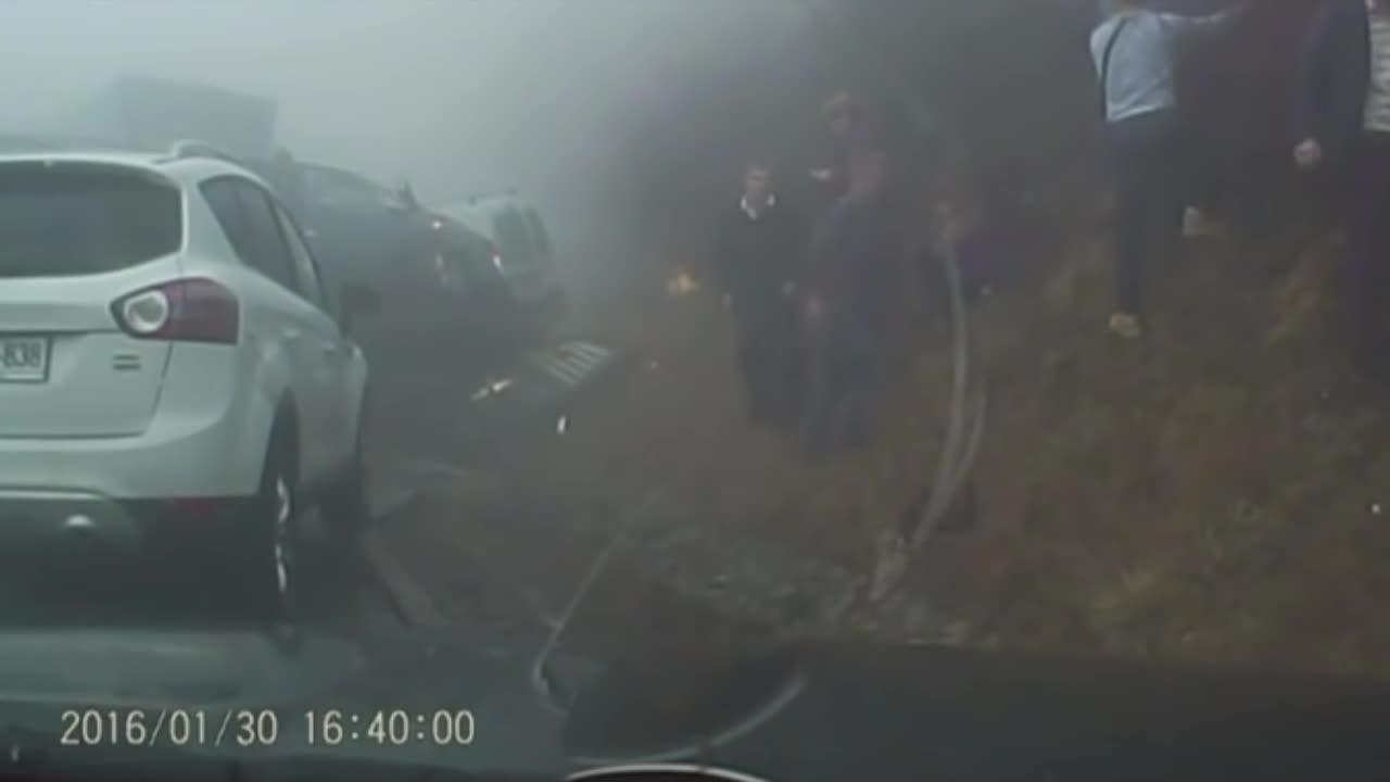 dash cam, dashcam, roadcams, Massive Pile-up in Slovenia GIFs