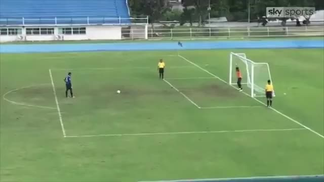 Watch and share Bizarre Penalty Scored In Thailand Cup Football GIFs by GIFs For Everything on Gfycat