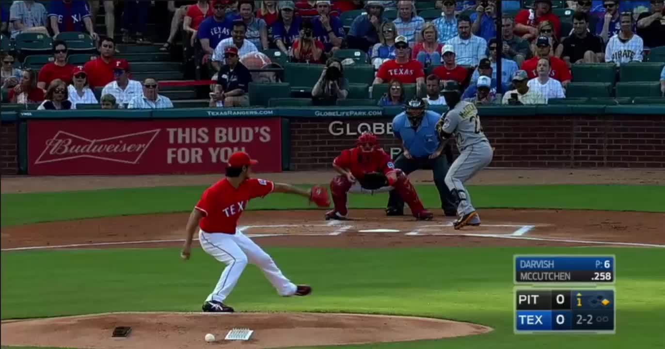 baseball, texasrangers, Darvish gets McCutchen GIFs