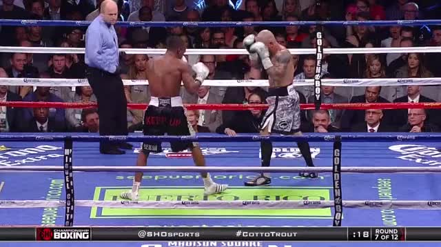 Watch Remember that time Austin Trout outclassed Miguel Cotto? GIF by Tom_Cody (@tomcody) on Gfycat. Discover more Austin Trout, Boxing, Cotto, Miguel Cotto GIFs on Gfycat