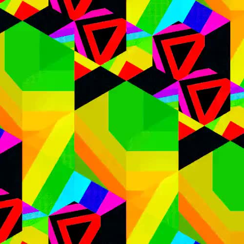 Watch and share Rainbow Color GIFs and Geometric GIFs on Gfycat