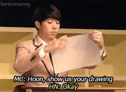 Watch this drawing GIF on Gfycat. Discover more drawing, fanclub event 2014, fanclub event 2014 dvd, hoon, hoon's drawings, my gifs, shin soohyun, soohyun, soohyun's laughter was quite precious here lol, u kiss, ukiss, ukiss' drawings, yeo hoonmin GIFs on Gfycat